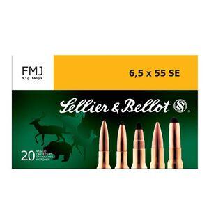 Sellier & Bellot 6.5×55mm Swedish Ammunition 20 Rounds, FMJ, 140 Grains