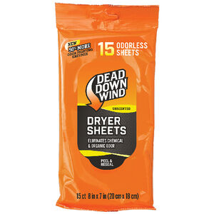 Dead Down Wind Dryer Sheets Unscented 15 Count