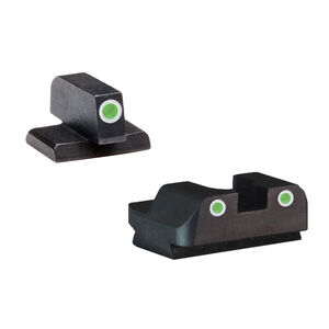 AmeriGlo Classic FN FNP .45 Night Sight Set Front And Rear Green Steel