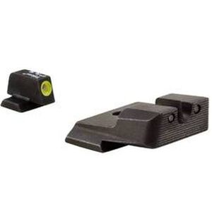 Trijicon HD Night Sight Set S&W M&P 3 Dot Tritium Green With Yellow Front Dot Outline SA137Y