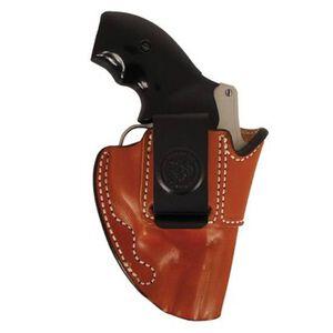 DeSantis 045 Summer Heat IWB Holster S&W J-Frame Revolvers Right Hand Leather Tan 045TA02Z0