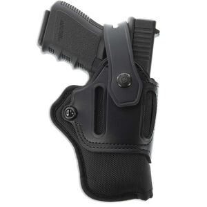 Galco Switchback Strongside/Crossdraw Belt Holster fits Taurus G2C/GLOCK 19/26 and Similar Ambidextrous Nylon/Leather Black