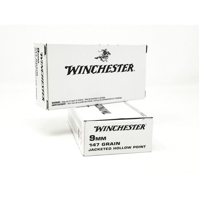Winchester Law Enforcement 9mm 147 Grain, Jacketed Hollow Point Ammunition 50 Rounds ZQ4429