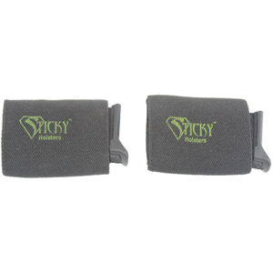 "Sticky Holster Belt Slider x2 Magazine Carrier Fits Belts Up To 1.75"" Wide Open Ended Accessory Holder Sticky Skin Interior Synthetic Material Black 2 Pack"