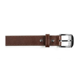 "Magpul Tejas Gun Belt ""El Original"" 1.5 Inch, Chocolate Leather, Chrome Buckle, Size 44"