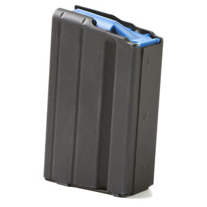 ASC AR-15 Magazine 6.5 Grendel 10 Rounds Blue Polymer Follower Stainless Steel Body Matte Black Finish