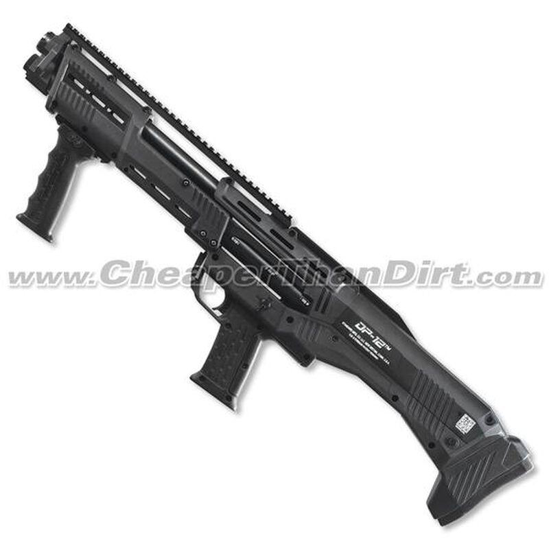 "Standard Manufacturing DP-12 12-Gauge Double-Barrel Pump-Action Shotgun, 18.875"" Barrels, 16 Rounds, Black"