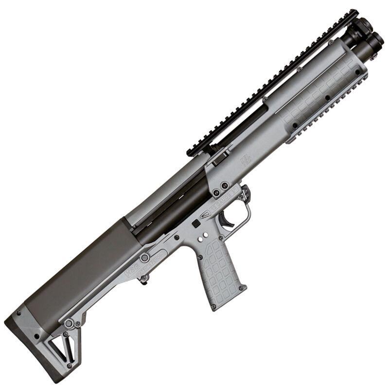 "Kel-Tec KSG Pump Action Shotgun 12 Gauge 18.5"" Barrel 3"" Chamber 12 Rounds Dual Tube Magazines Downward Ejection Ambidextrous Synthetic Stock Tactical Gray Finish"
