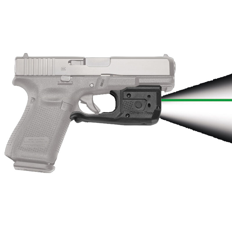 Crimson Trace LaserGuard Pro Light/Laser Combo GLOCK Full Size/Compact  Models 150 Lumen LED White Light/5mW Green Laser Polymer Housing Matte Black