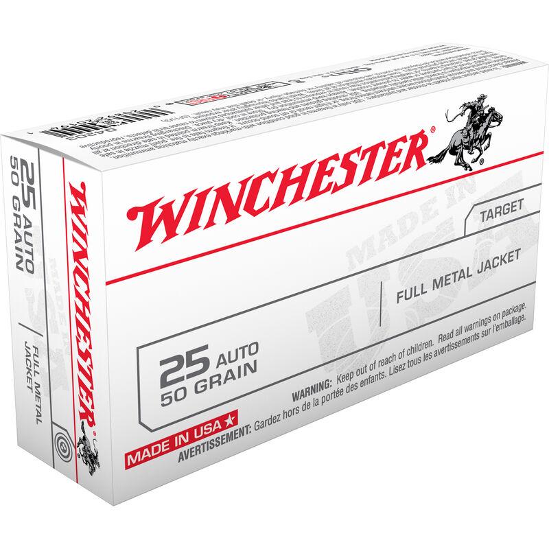 Winchester Super X .25 ACP Ammunition 500 Rounds, FMJ, 50 Grains