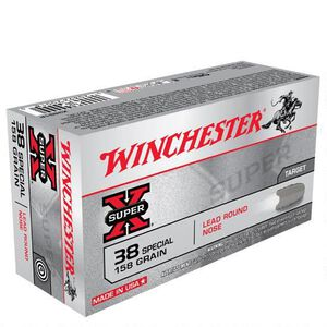 Winchester Super X .38 Special Ammunition 50 Rounds, LRN, 158 Grains