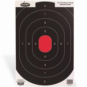 "Birchwood Casey Dirty Bird 12""x18"" Silhouette Paper Target White Splatter Indoor/Outdoor 100 Pack 35601"