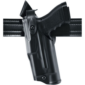 Safariland 6360 ALS/SLS Level III Mid-Ride Duty Holster Left Hand Fits SIG Sauer P320 Compact / Carry 9mm/.40 with X300/TLR-1 Basketweave Black 6360-7502-82