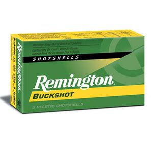 "Remington 12 Gauge Ammunition 5 Rounds 2.75"" 9 Pellets #00 Buckshot"
