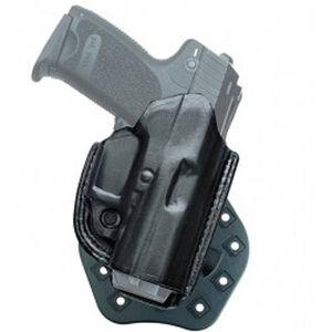 Aker Leather 268A FlatSider Paddle XR19 H&K USP 40C Belt Holster Right Hand Leather Plain Black H268ABPRU-HK40C