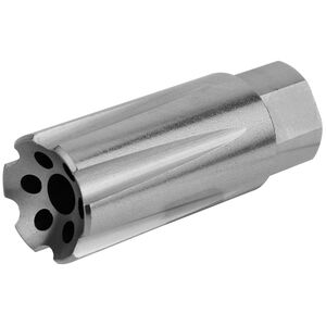 """TacFire Muzzle Brake .223/5.56 1/2"""" x 28 Flash and Sound Forwarder Stainless"""