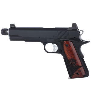 "Dan Wesson 1911 Vigil Suppressor Ready Semi Auto Pistol 9mm Luger 5.75"" Barrel 9 Rounds High Front Night Sight/High Rear Sight Wood Grips Forged Aluminum Frame Matte Black Finish"