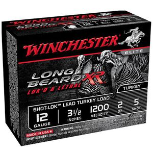 "Winchester Long Beard 12 Gauge Ammunition 100 Rounds 3.5"" #5 Plated Lead STLB12L5"