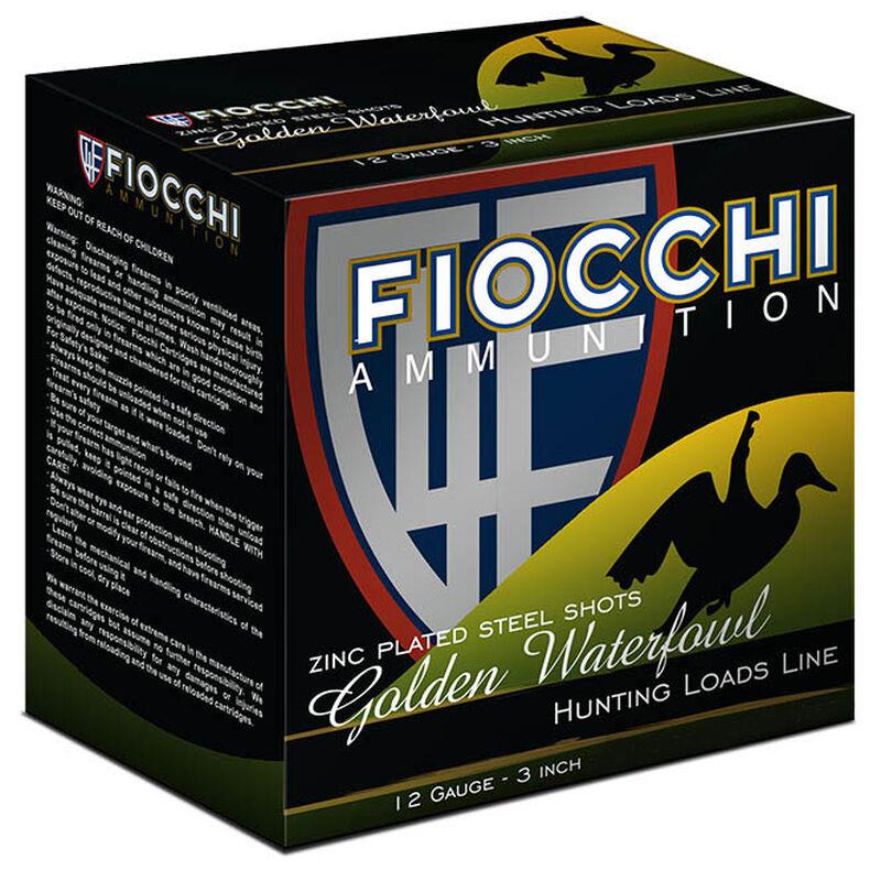 "Fiocchi Waterfowl Steel Hunting Golden Waterfowl 12 Gauge Ammunition 250 Rounds 3"" BB Shot 1-1/4oz Steel 1350fps"