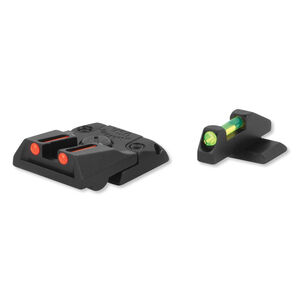 Williams Fire Sight Set Ruger SR-22 Fiber Optic Sights Fixed Front Adjustable Rear Sights Red/Green Aluminum Matte Black 70987
