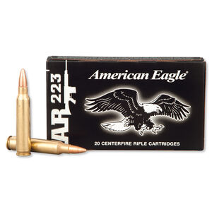 Federal American Eagle .223 Remington Ammunition 20 Rounds FMJ 55 Grains AE223F