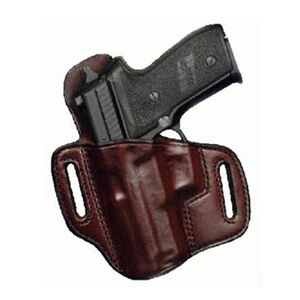 Don Hume 721OT GLOCK 19/23/32/38 Pancake Open Top Holster Left Hand Leather Brown