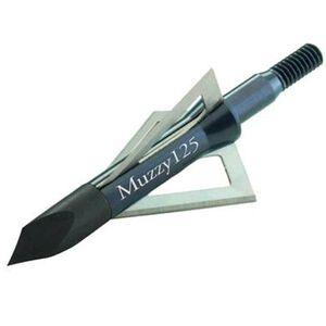 """Muzzy 3 Blade Broadhead 125 Grain 1.19"""" Cutting Diameter Trocar Tip 6 Pack 235"""