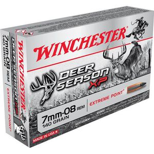 Winchester 7mm-08 Remington Ammunition 20 Rounds Deer Season XP PT 140 Grains