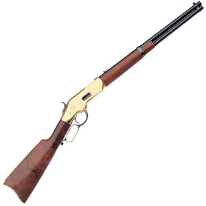 """Taylor's & Co 1866 Yellowboy Carbine Lever Action Rifle .45 LC 19"""" Barrel 10 Rounds Brass Receiver Walnut Stock Blued"""