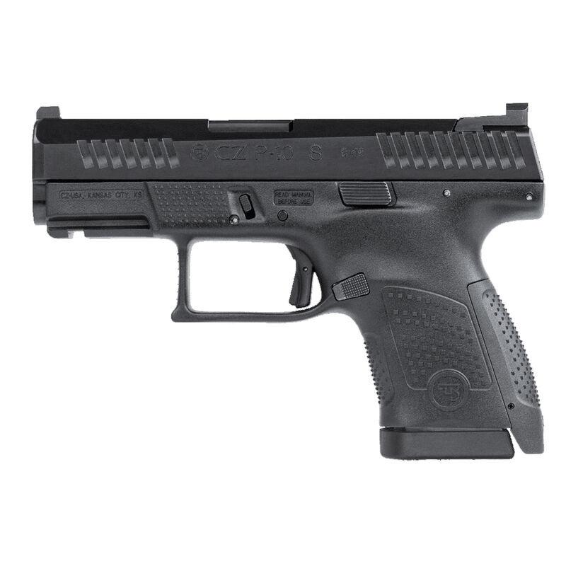 "CZ P-10 S Sub-Compact 9mm Luger Semi Auto Pistol 3.5"" Barrel 10 Rounds Night Sight Fiber Reinforced Polymer Frame Matte Black Finish"