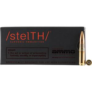 Ammo Inc /stelTH/ .300 BLK Subsonic Ammunition 20 Rounds 220 Grain HPBT 1071fps