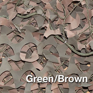 "Camo Unlimited Premium Series Military 9'10""x9'10"" 3D Leaf Like Foliage Reversible Green and Brown Color"