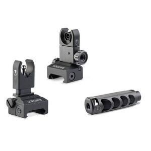 Ultradyne AR-15 APOLLO and C4 Dynamount Folding Sight Combo .223/5.56 Caliber 1/2x28 Threads Nitride Black
