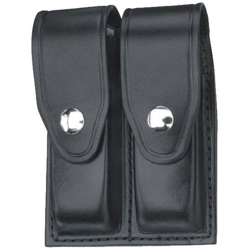 Gould & Goodrich Double Magazine Case Leather GLOCK 32 Nickel Snap Plain Black Finish B627-7