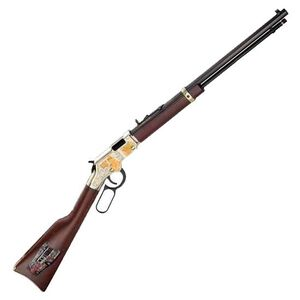 "Henry Golden Boy Firefighter Tribute Edition Lever Action Rifle .22 LR 20"" Barrel 16 Rounds American Walnut Stock Brasslite Receiver H004FM"