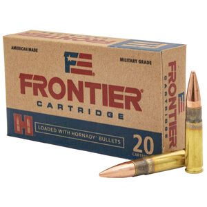 Hornady Frontier .300 AAC Blackout Ammunition 20 Rounds 125 Grain Full Metal Jacket 2175fps