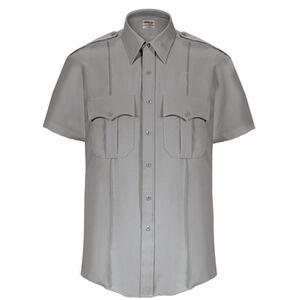 Elbeco Textrop2 Men's Short Sleeve Shirt Neck 15 100% Polyester Tropical Weave Gray