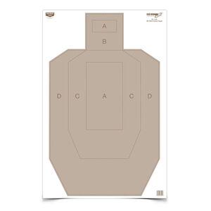 """Birchwood Casey Eze-Scorer 23""""x35"""" IPSC Practice Paper Target Indoor/Outdoor White 100 Pack 37025"""
