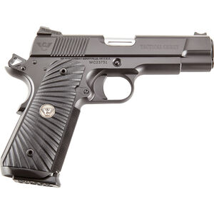"Wilson Combat Tactical Carry Commander 1911 Handgun 45acp Single Action 4.25"" Barrel 8 Round Carbon Steel Black Finish TCCOM45"