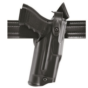 Safariland 6360 ALS/SLS Mid-Ride Duty Holster Fits SIG P320 Full Size Synthetic Leather Plain Black