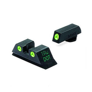 Meprolight Tru-Dot Fixed Sights For GLOCK 9mm/.357 Sig/.40 S&W/.45 GAP Green Dots ML10224