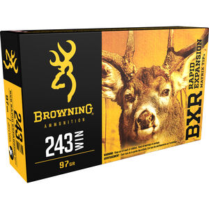Browning BXR .243 Winchester Ammunition 20 Rounds BXR 97 Grains B192302431