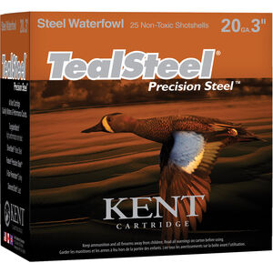 "Kent Cartridge TealSteel 12 Gauge Ammunition 250 Rounds 3"" Shell #5 Precision Steel Shot 1-1/4oz 1350fps"