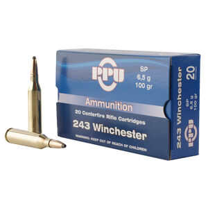 Prvi Partizan .243 Winchester Ammunition 20 Rounds SP 100 Grains