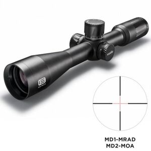 EoTech VUDU 2.5-10x44 Precision Riflescope MD-1 Illuminated Reticle 30mm Tube .1 MRAD Adjustments First Focal Plane Anodized Finish Flat Black