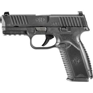 """FNH FN 509 Full Size 9mm Luger Semi Auto Pistol 4"""" Barrel 17 Rounds Fixed 3 Dot Sights Ambidextrous Controls Polymer Frame Matte Black"""