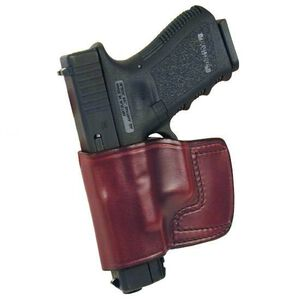 Don Hume J.I.T. Glock 17, 19, 22, 23, 26, 27, 31, 32, 33 & 36 Slide Holster Left Hand Leather Brown