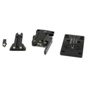 Meprolight MicroRDS Canik TP Series Quick Detach Adapter and Backup Sights Black