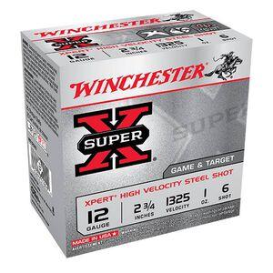 """Winchester Super X Expert 12 Gauge Ammunition 25 Rounds 2.75"""" #6 Steel 1 Ounce WE12GT6"""