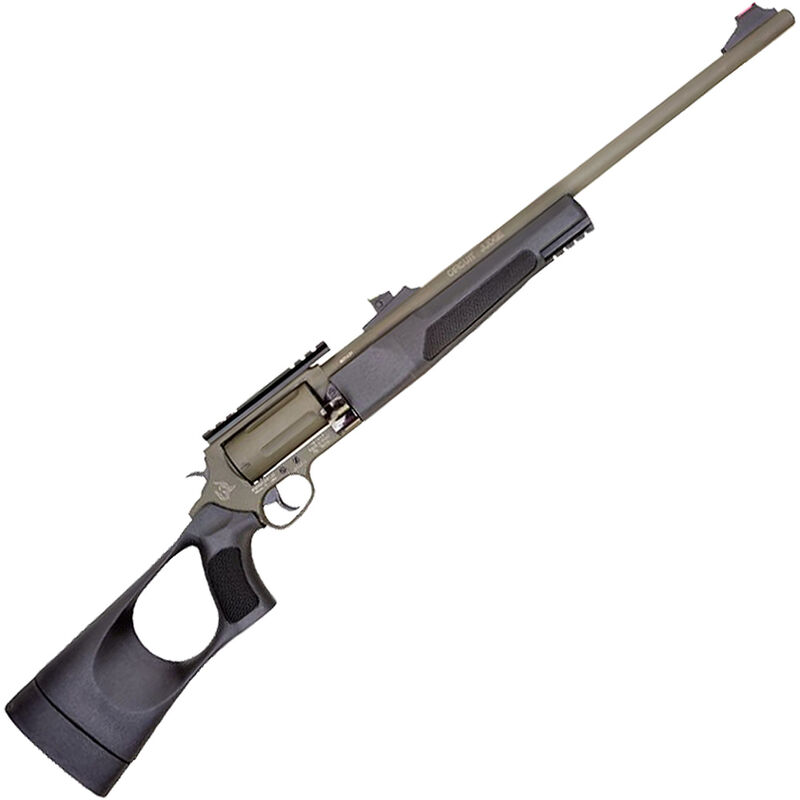 "Rossi Circuit Judge .45 LC/.410 Bore DA/SA Revolver Rifle/Shotgun 18.5"" Barrel 5 Rounds Scope Base Synthetic Tuffy Thumbhole Stock OD Green Cerakote Finish"